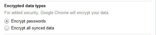 Default Encryption Setting