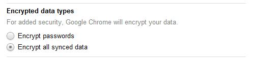 Encrypt all data